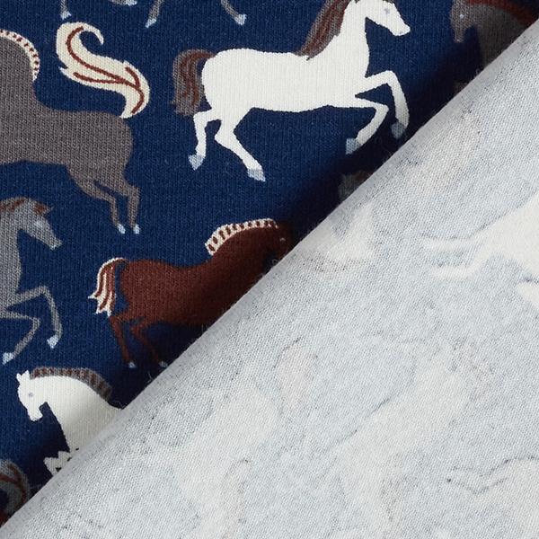 Jersey coton Chevaux – bleu marine