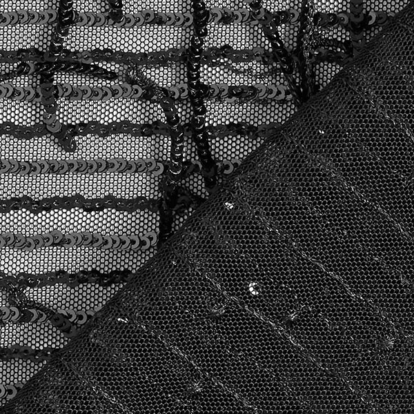 Softmesh Franges à paillettes – noir/noir