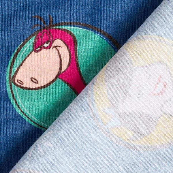 Jersey coton Les Pierrafeu | Coppenrath | Warner Bros. – bleu jean/vert herbe