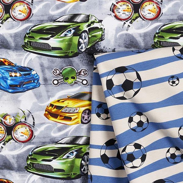 Jersey coton Impression numérique the Fast and Furious – argent