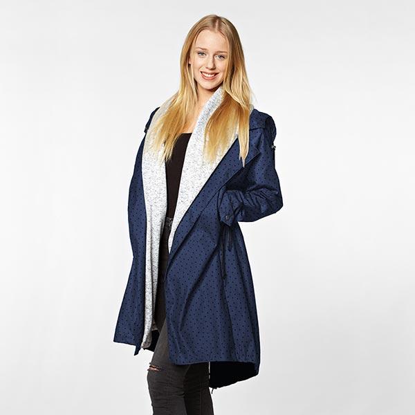 Tissu pour veste de pluie Points | Coppenrath – bleu marine
