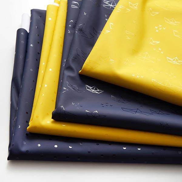 Regenjackenstoff Punkte – marineblau