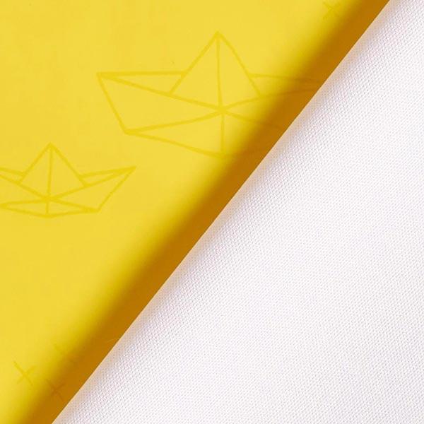 Regenjackenstoff Origami Schiff – gelb