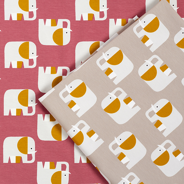Jersey coton bio Éléphant – vase