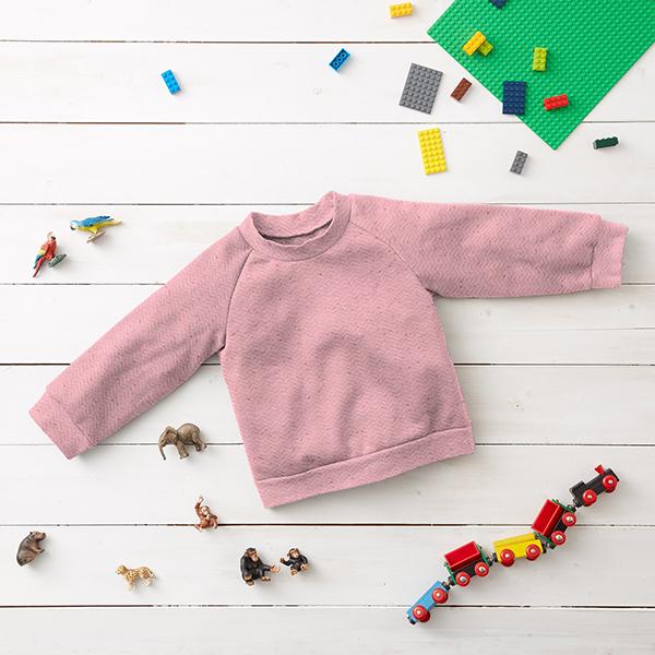 Jersey Jacquard Zigzag tweed multicolore – rose
