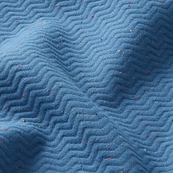 Jersey Jacquard Zigzag tweed multicolore – bleu jean