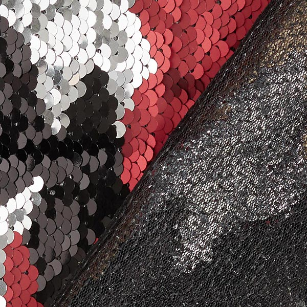 Softmesh Paillettes réversibles tricolore – rouge/or