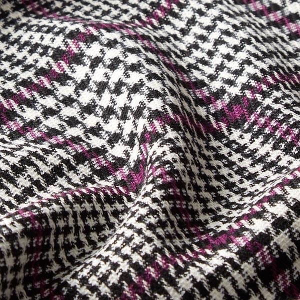 Tissu pour pantalon et costume Motif prince-de-galles – noir/baies