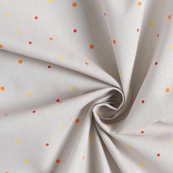 Popeline coton Points miniatures | Coppenrath – argent/orange