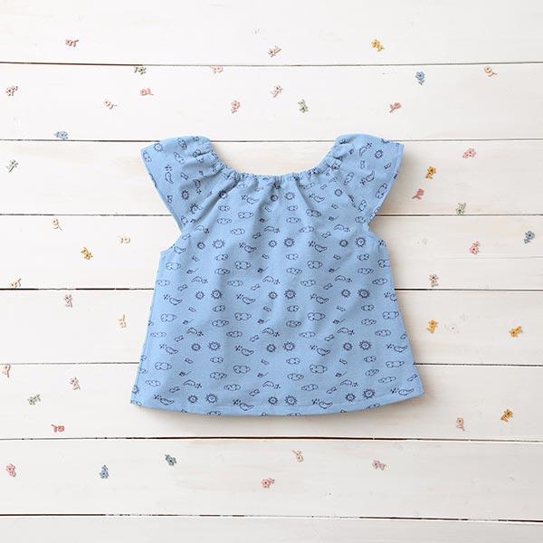 Jersey coton Piqué Ciel – bleu clair