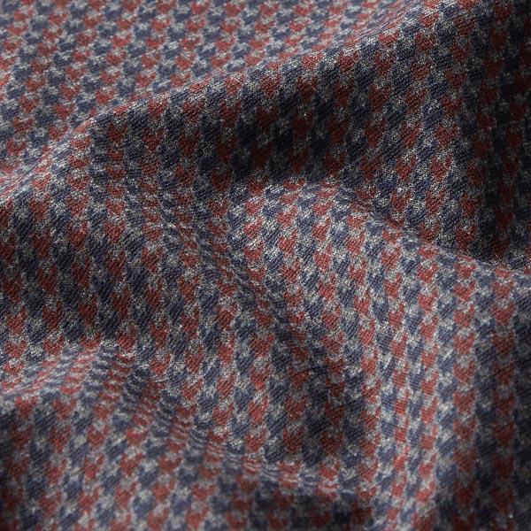 Jersey romanite Pied-de-poule – bleu marine/rouge bordeaux