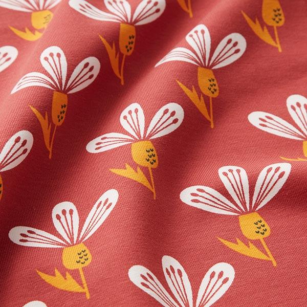 Jersey coton crocus – rouge rouille