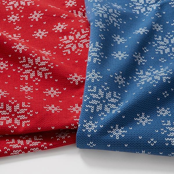 Soft sweater flocons de neige aspect tricot – rouge