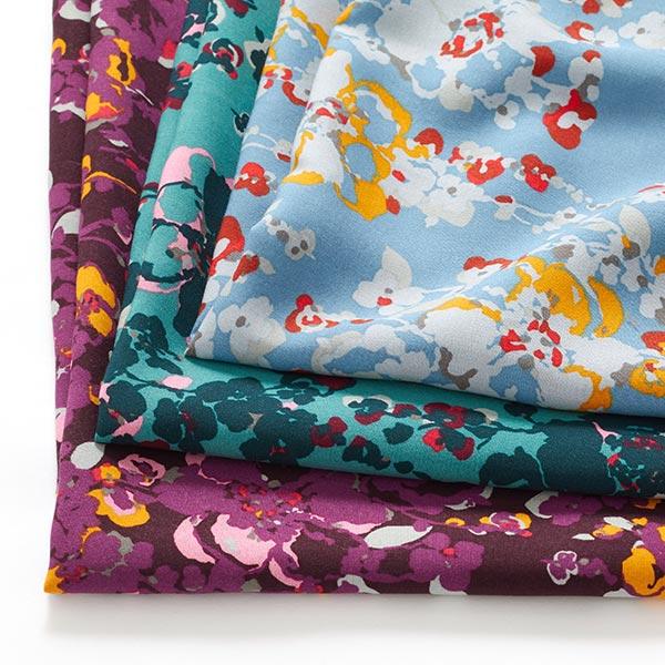 Tissu en viscose Fleurs tachetées – aubergine