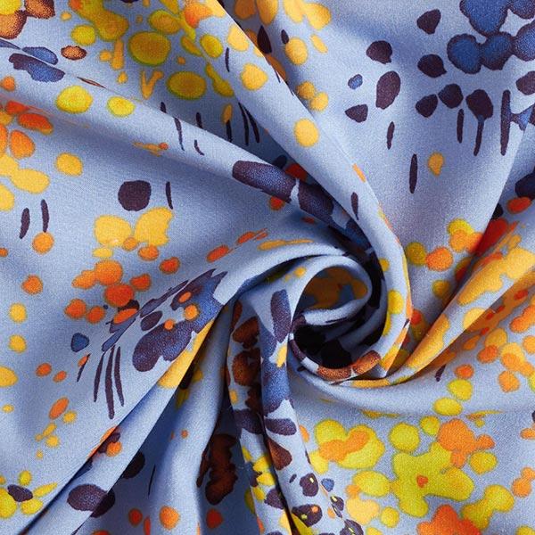 Tissu en viscose Prairie fleurie trempée – bleu clair