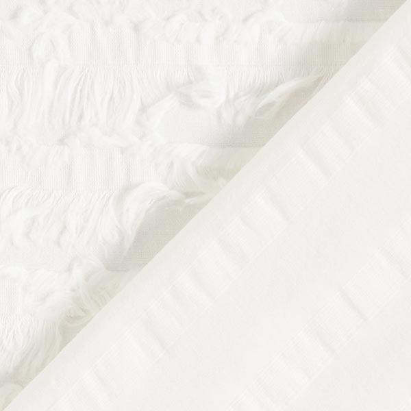 Batiste de coton franges – blanc