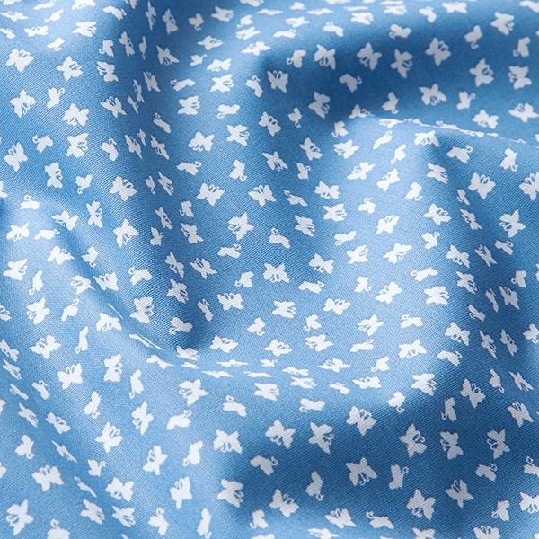 Tissu en coton Popeline Papillons – bleu pigeon