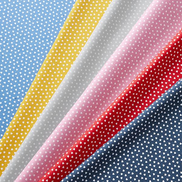 Tissu en coton Popeline Cœurs – bleu marine