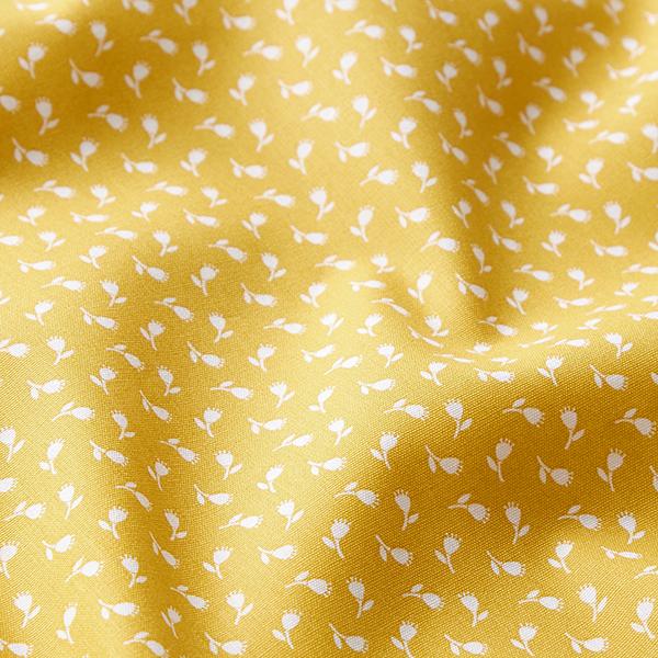 Tissu en coton Popeline Petites roses – moutarde
