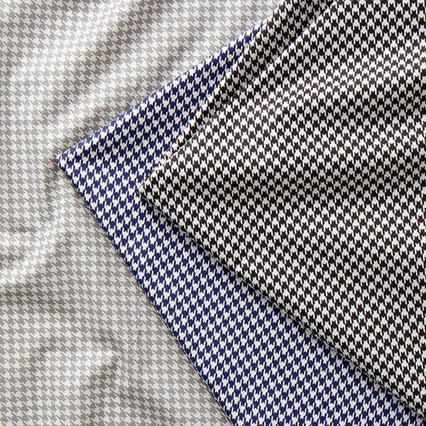 Tissu pour chemise Popeline coton Pied-de-poule – gris clair/blanc