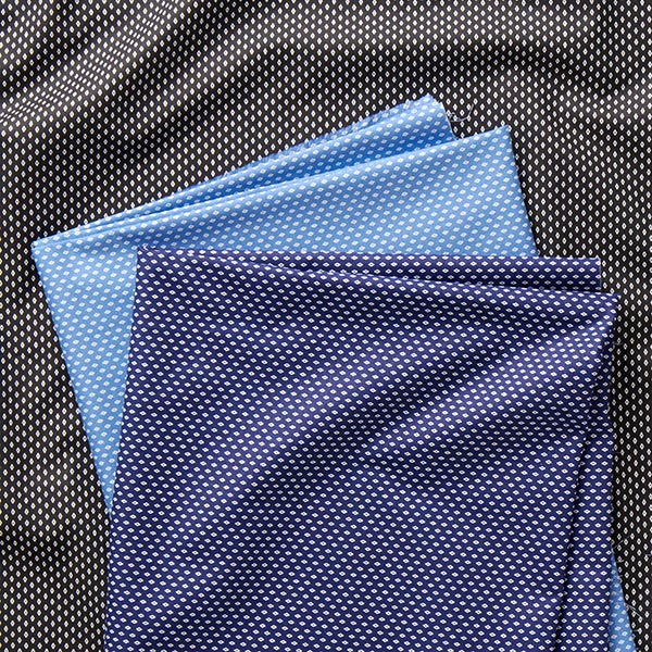 Tissu pour chemise Popeline coton Petits losanges – bleu clair/blanc