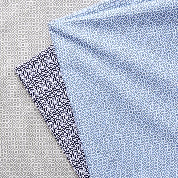 Tissu pour chemise Popeline coton Ornemental – gris clair/blanc