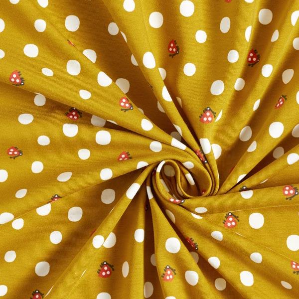 Jersey de coton bio Coccinelle – moutarde