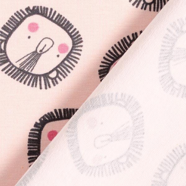Jersey de coton bio Lion – rosé