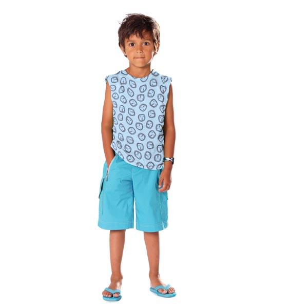 Jersey de coton bio Lion – bleu clair