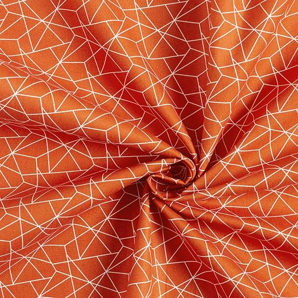 Tissu en coton Popeline Graphique – terre cuite