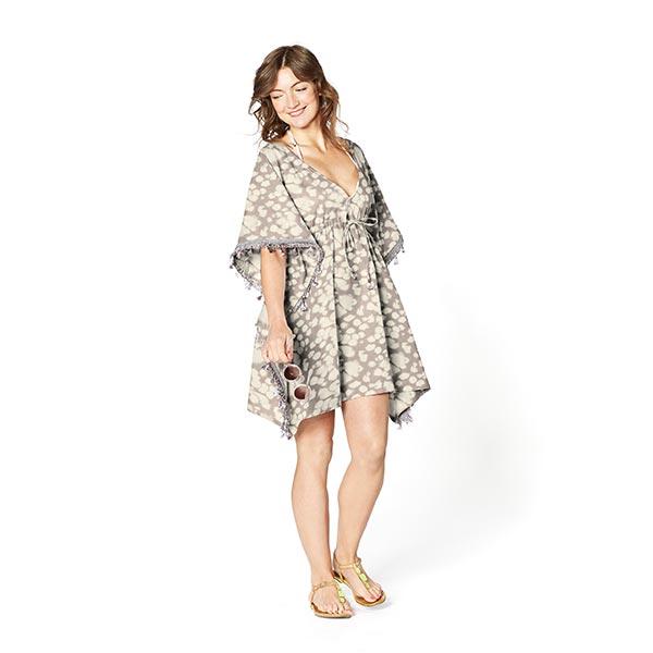 Mélange lin-viscose tache batik – sable