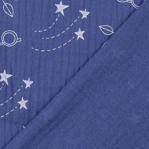 Mousseline Happy Glamping Watch The Stars – bleu marine | Hamburger Liebe
