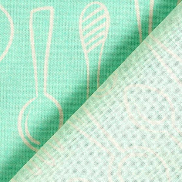 Coton Bio In My Kitchen Silver Spoon | Hamburger Liebe – vert menthe