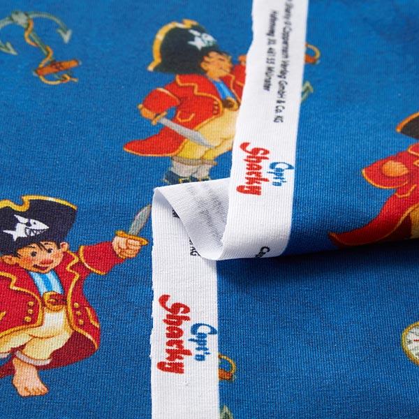 Jersey coton Capt'n Sharky Ahoi Impression numérique | Coppenrath – bleu acier/rouge clair