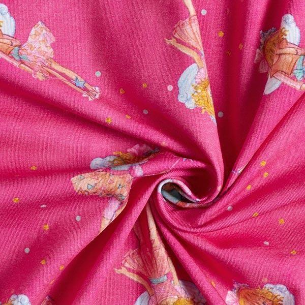 Jersey coton Princesse Lillifee fait de la magie Impression numérique   Coppenrath – rose
