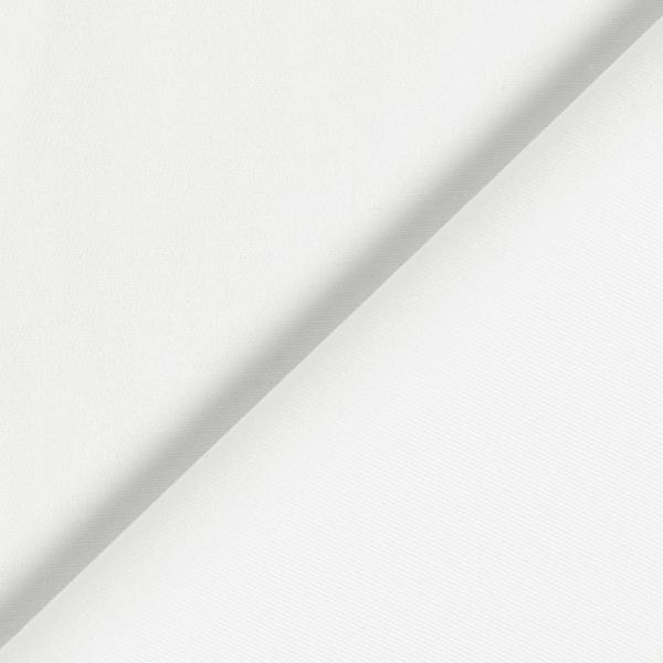 Satin de coton élastique Uni – blanc