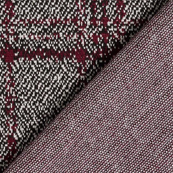Jersey romanite Mélange Prince-de-Galles et carreaux – noir/rouge bordeaux