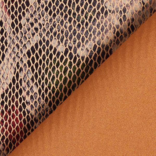 Similicuir Imprimé feuille Serpent – beige