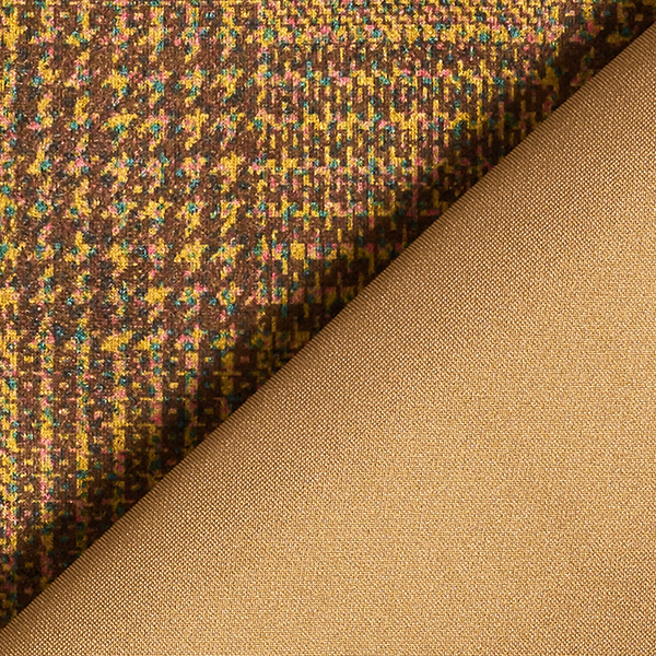 Daim stretch Prince-de-Galles – beige/marron