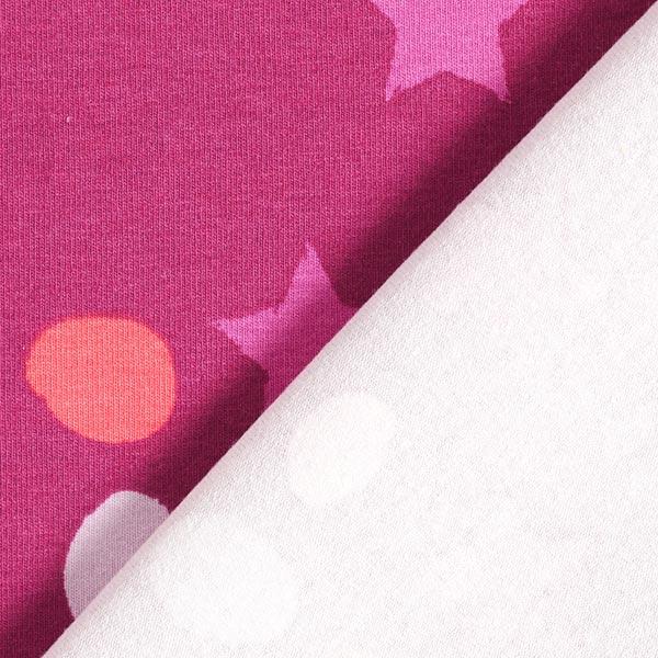 Baumwolljersey Sterne und Flecken – purpur
