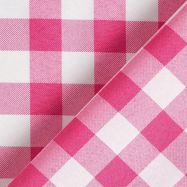 Tissu de décoration Carreaux – rose vif