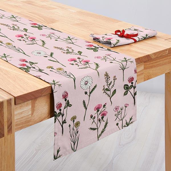 ARVIDSSONS TEXTIL – Tissu de décoration Semi-panama Midsommer – rose