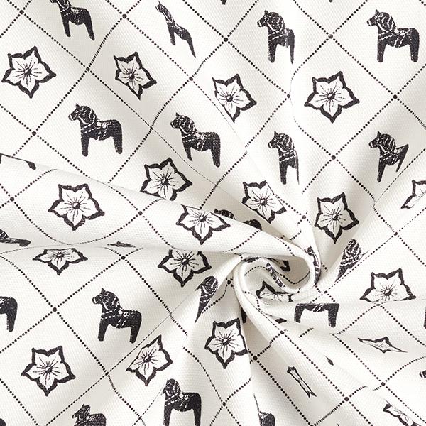 Tissu de décoration Siljan – noir/blanc