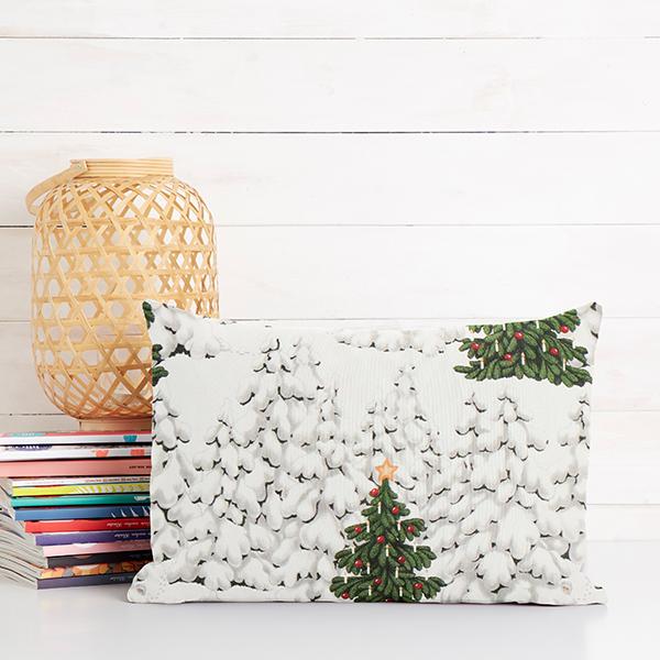 ARVIDSSONS TEXTIL – Tissu de décoration Semi-panama Grön o Grann – blanc