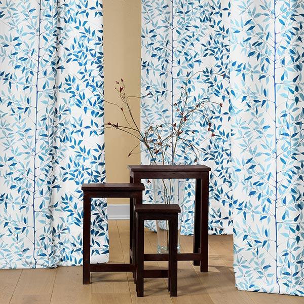 ARVIDSSONS TEXTIL – Tissu de décoration Semi-panama När Staren Kom – bleu