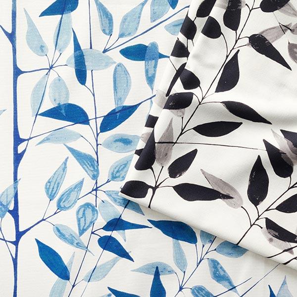 ARVIDSSONS TEXTIL – Tissu de décoration Semi-panama När Staren Kom – noir
