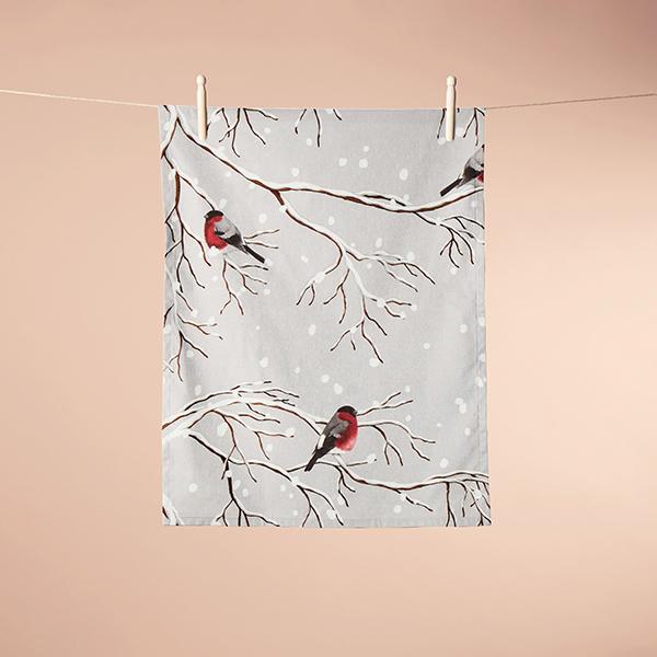 ARVIDSSONS TEXTIL – Tissu de décoration Semi-panama Vinterland – gris clair
