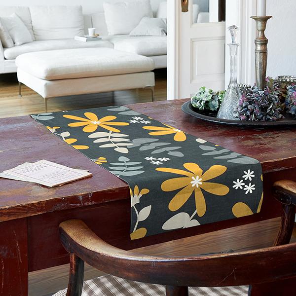 ARVIDSSONS TEXTIL – Tissu de décoration Semi-panama Under Solen – navy