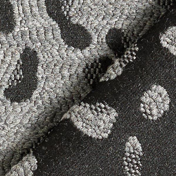 Tissu jacquard Leo Abstrait – gris/noir
