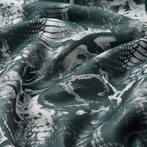 Tricot Scuba motif de serpent – vert foncé